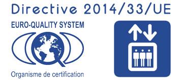 2014/33/UE directive Ascenseur